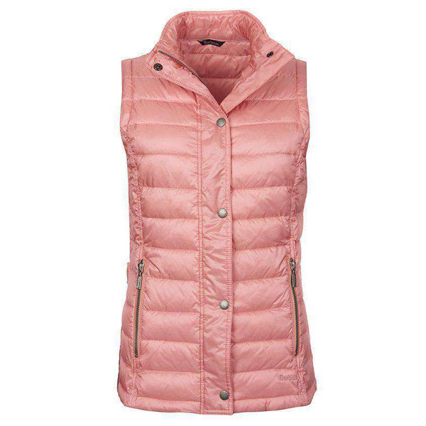 Women's Vests - Alasdiar Quilted Gilet In Vintage Rose By Barbour - FINAL SALE