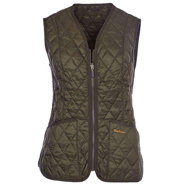 Women's Vests - Betty Interactive Gilet Liner In Olive By Barbour