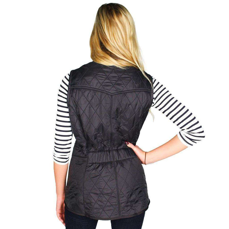 Women's Vests - Cavalry Quilted Gilet In Black By Barbour