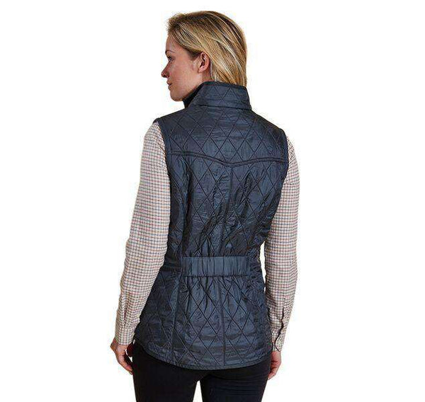 Cavalry Quilted Gilet in Navy and Red by Barbour - FINAL SALE