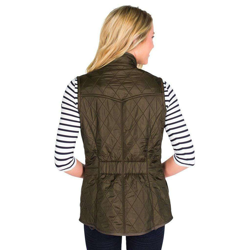 Women's Vests - Cavalry Quilted Gilet In Olive Green By Barbour