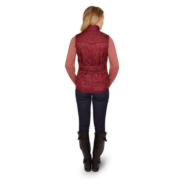 Cavalry Quilted Gilet in Rosewood and Navy by Barbour