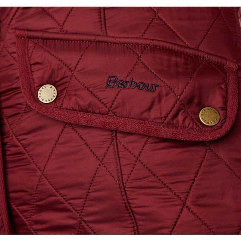 Women's Vests - Cavalry Quilted Gilet In Rosewood And Navy By Barbour