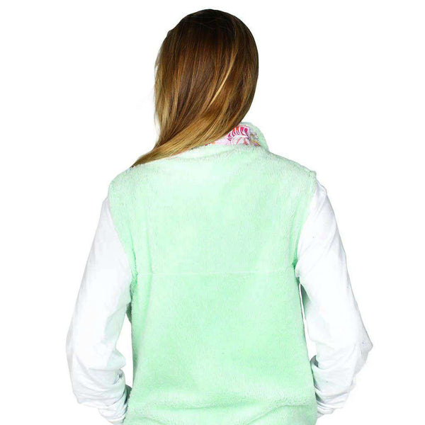 Fleece Vest in Mint Julep by the Fraternity Collection