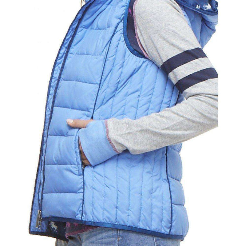 Hooded Vest in Ice Cap Blue with Moose Lining by Hatley - FINAL SALE