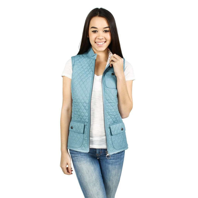 Women's Vests - Ladies Brush Gilet In Blue By Barbour