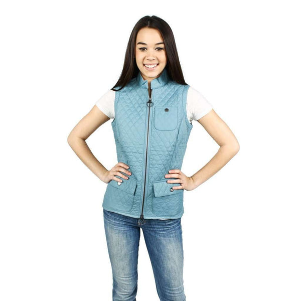 Ladies Brush Gilet in Blue by Barbour
