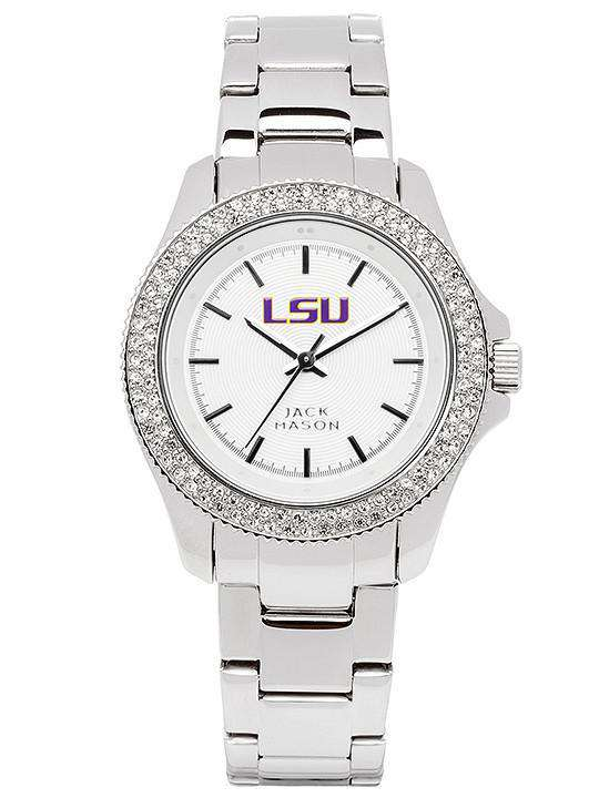 Women's Watches - LSU Tigers Ladies Glitz Sport Bracelet Watch By Jack Mason