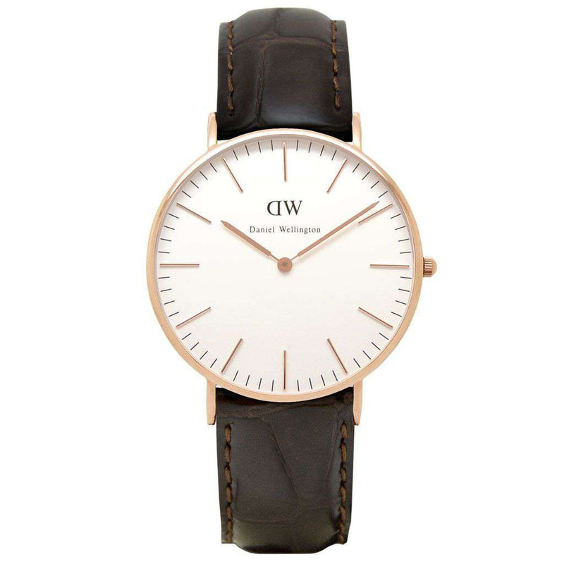 Women's Classic York Watch in Rose Gold by Daniel Wellington