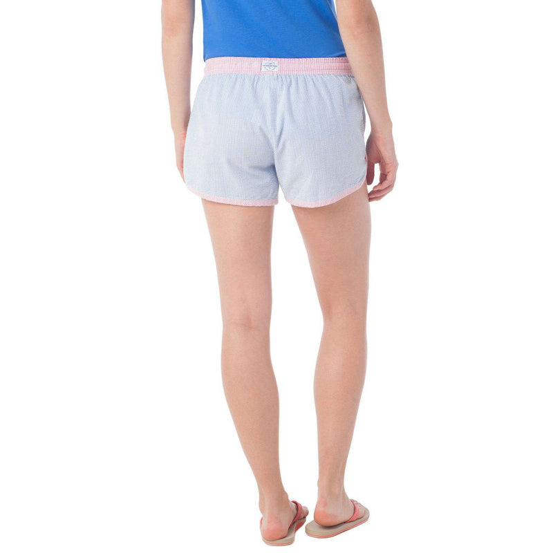 Women's Seersucker Lounge Short in Blue Stream by Southern Tide - FINAL SALE
