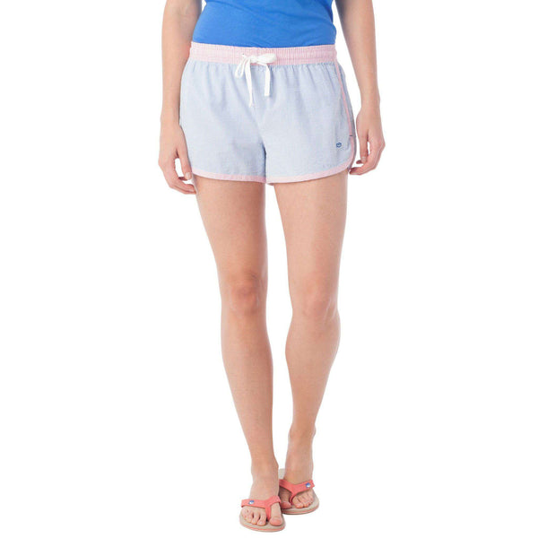 Women's Seersucker Lounge Short in Blue Stream by Southern Tide  - 1