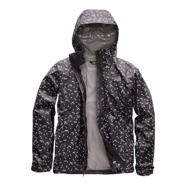 The North Face Women's Print Venture Jacket in Weathered Black Sparse Triangle Print