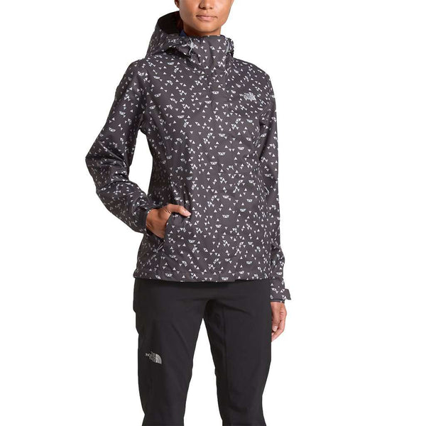 Women's Print Venture Jacket in Weathered Black Sparse Triangle Print by The North Face