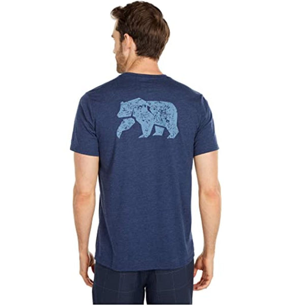 Worn in Bear Short Sleeve Pocket Tee in Navy by The Normal Brand