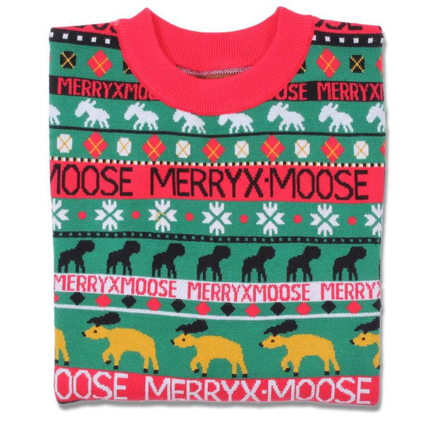 Preppy Elves Merry X-Moose Sweater by Preppy Elves