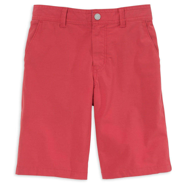 Youth Tide to Trail Performance Shorts in Charleston Red by Southern Tide