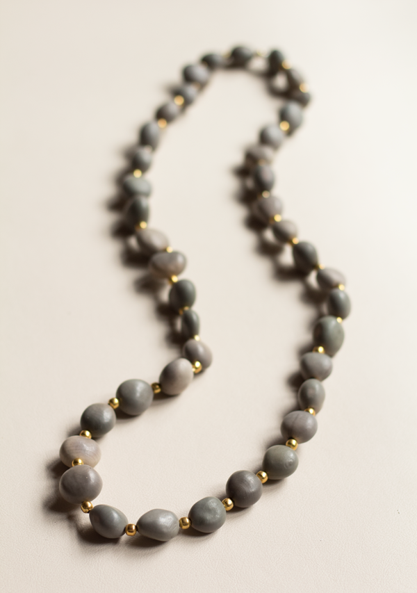 One Row Hazelnut Necklace