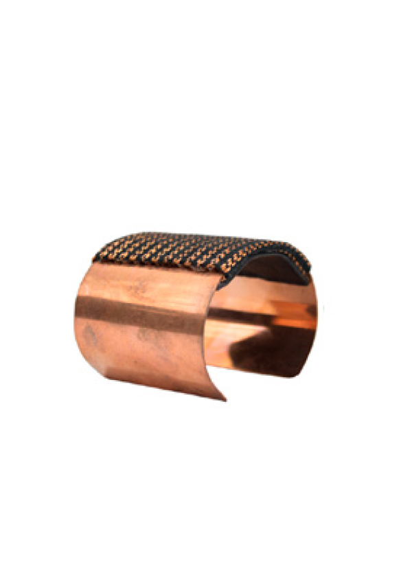 Black Pattern Copper Bracelet - Lula Mena