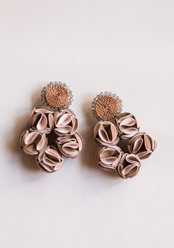 Triple Rose Earrings