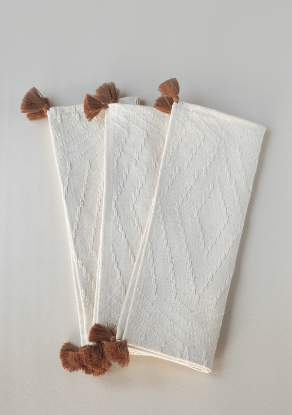 Brown Tassels Placemats - Lula Mena