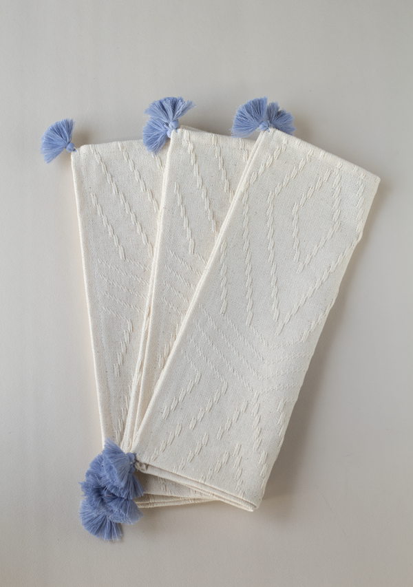 Light Blue Tassels Placemats - Lula Mena