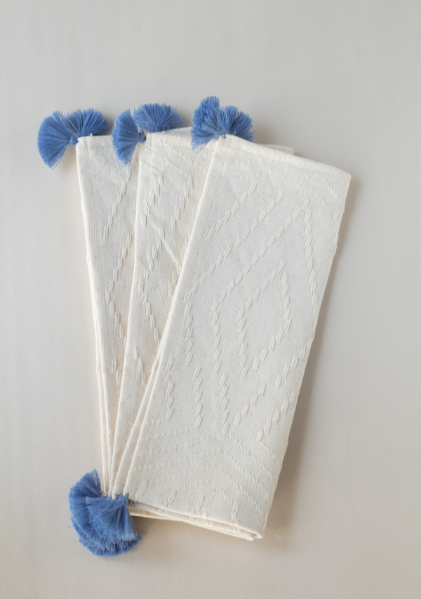 Blue Tassels Placemats