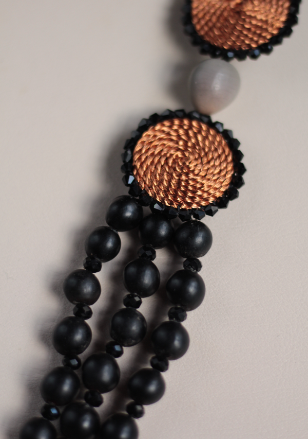 Double Black Circle Necklace