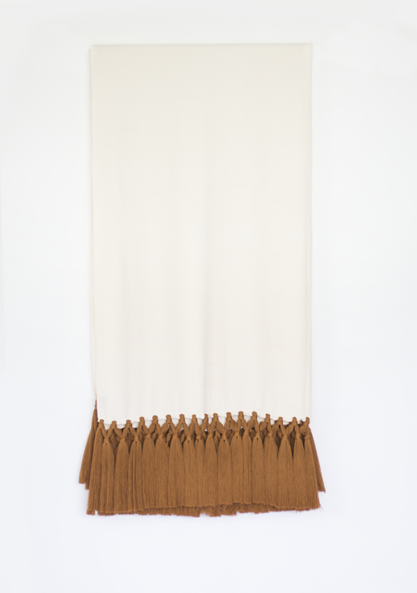Handwoven Copper Tassels Throw - Lula Mena