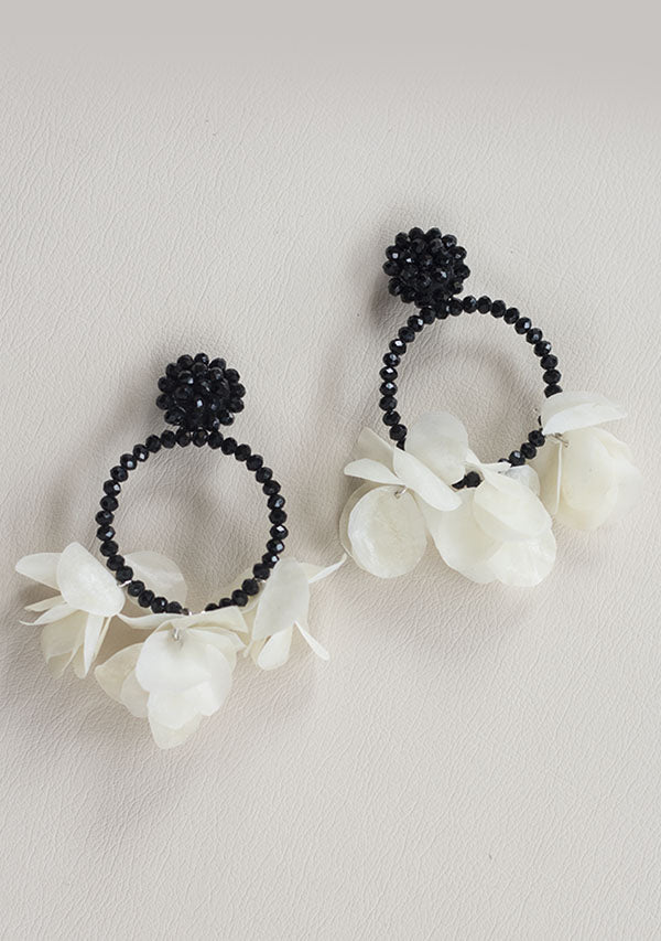Black Crystal Cost Earrings - Lula Mena