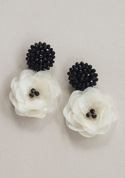 Black Queen Rose Earrings - Lula Mena