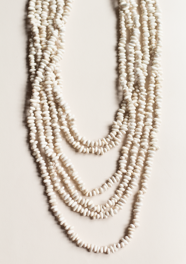 White seeds necklace