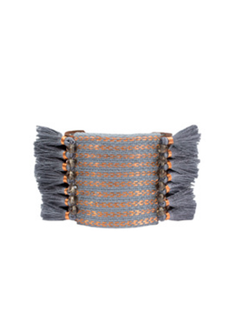 Grey Tassels Copper Bracelet