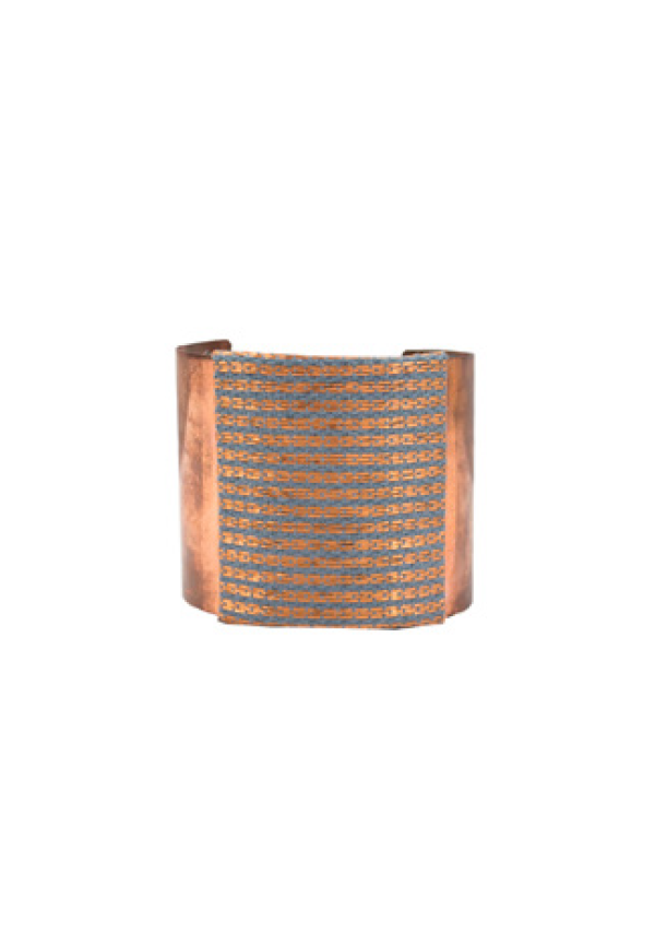 Blue Pattern Copper Bracelet - Lula Mena