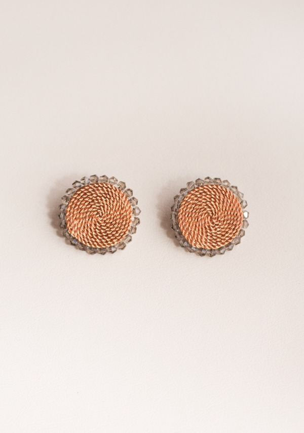 Small White Circle Earrings - Lula Mena