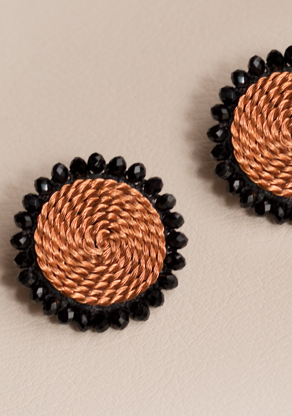 Small Black Circle Earrings - Lula Mena