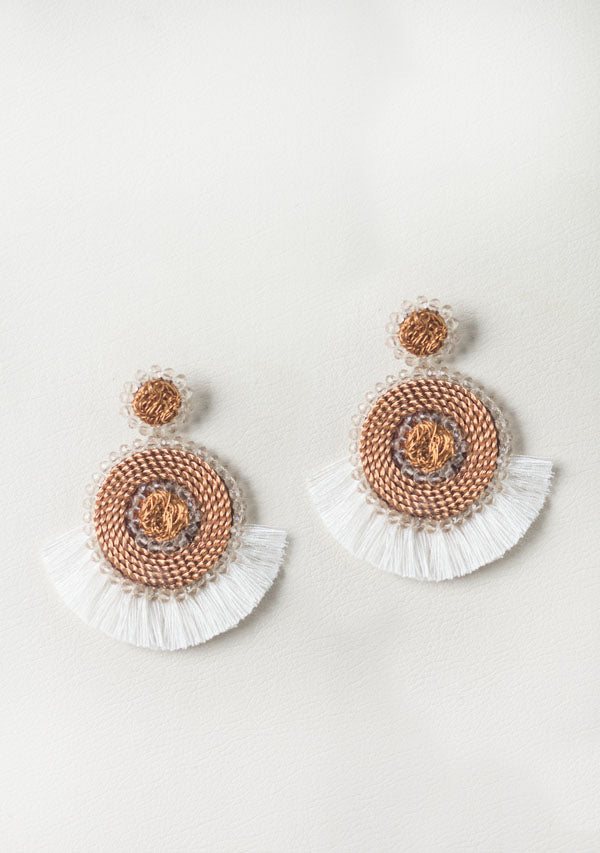 Upcycled Copper Wire Earrings - Lula Mena