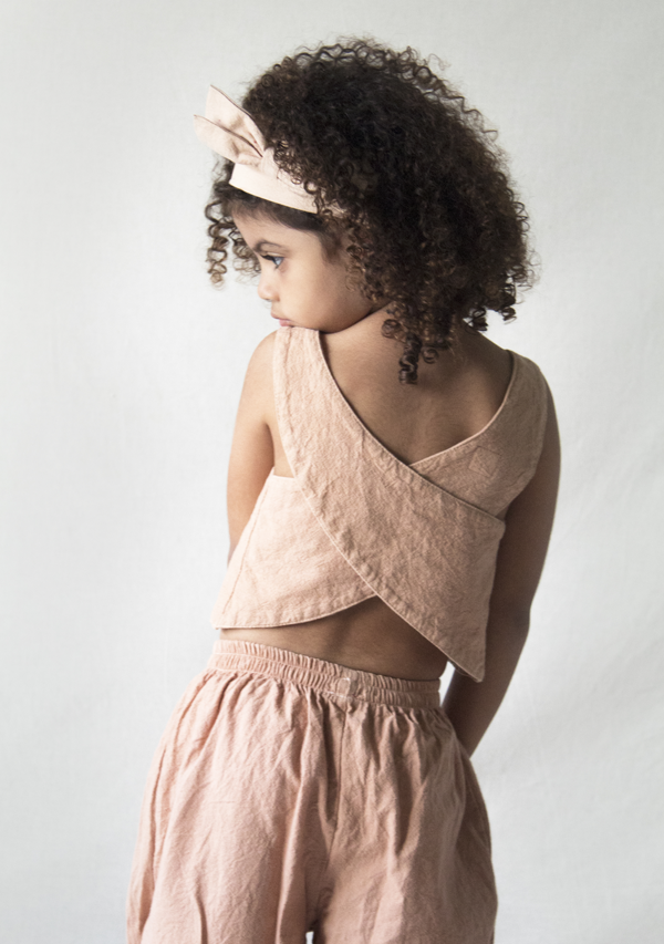 Dusty Rose Sleeveless Blouse and Pants