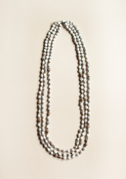 Three Rows St. Peter's Tears Necklace - Lula Mena