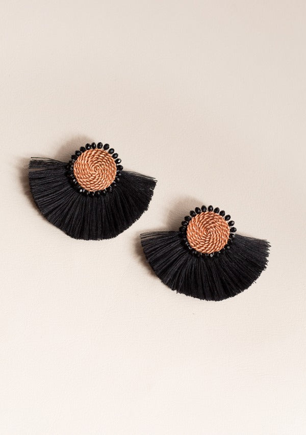 Black Moon Earrings