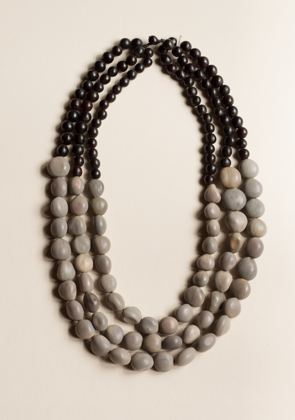 Three Rows Black & Grey Necklace