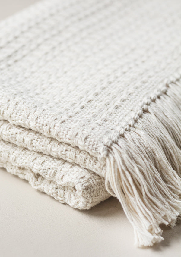 Raw Cotton Blanket - Lula Mena