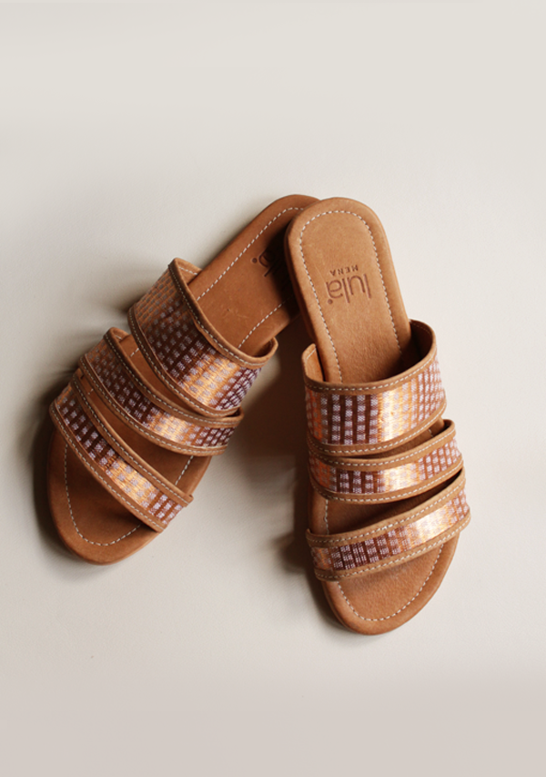 Light Brown Copper Sandals