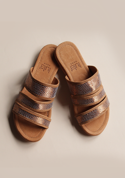 Brown Copper Sandals