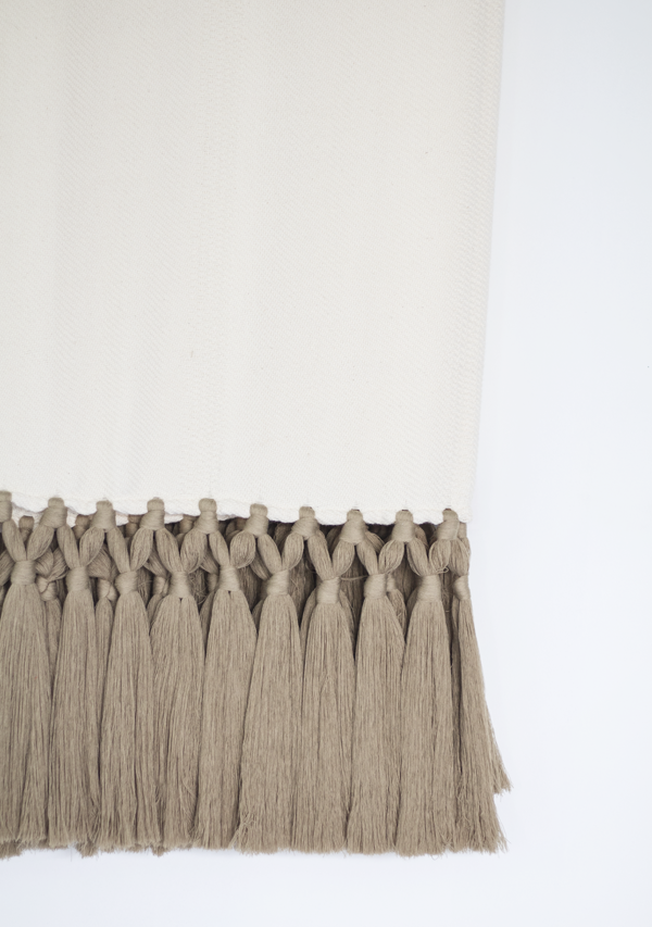 Handwoven Grey Tassels Throw - Lula Mena