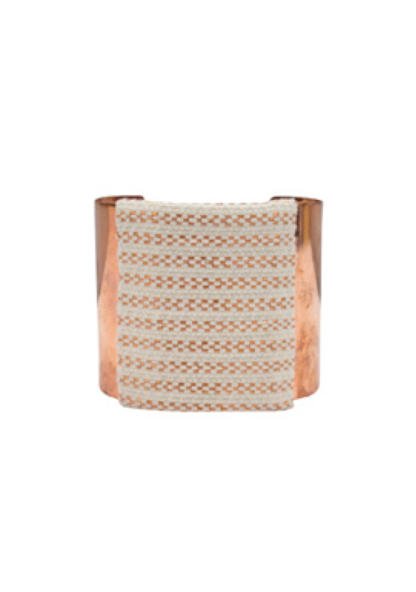 White Pattern Copper Bracelet - Lula Mena