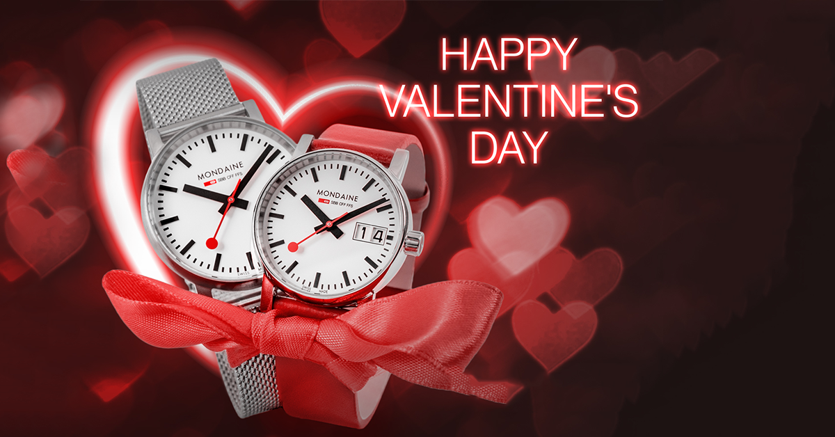 Mondaine Happy Valentine's Day