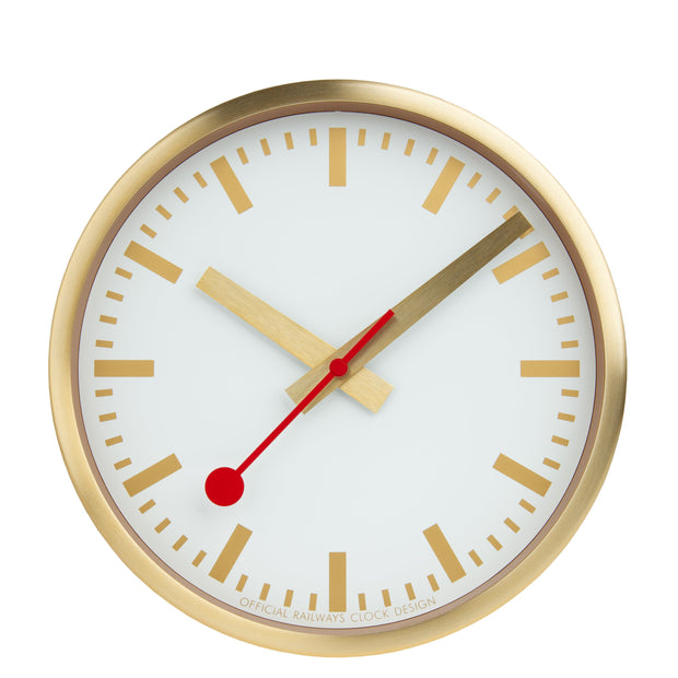 Official Swiss Railways Clock - Pure Gold
