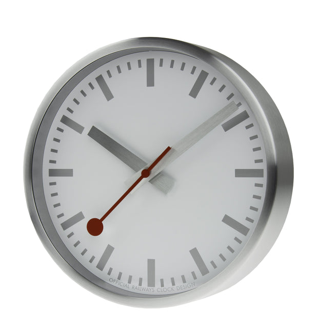 Official Swiss Railways Clock - Silver
