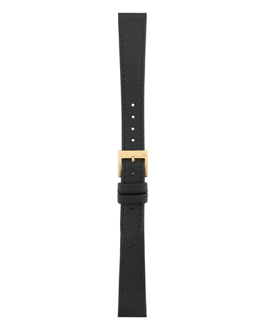 Helvetica No1 Light Black Leather Strap