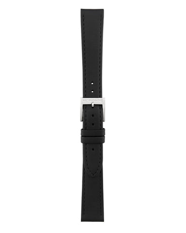 Helvetica No1 Regular Black Leather Strap